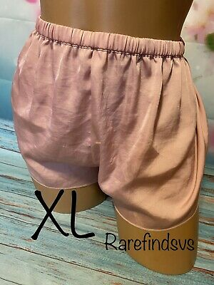 Crepe Pink Silk Pajama Shorts Victorias Secret XL
