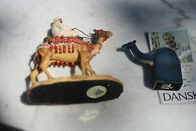 Hand Painted Camel & Rider, Summit Collection, Arcadia, Ca & Dansk Camel, Cyren