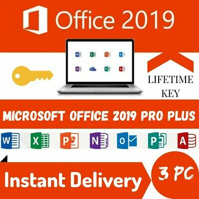 Microsoft Office 2019 Professional Plus 💥3Users💥 Lifetime Key for Windows PC ✅
