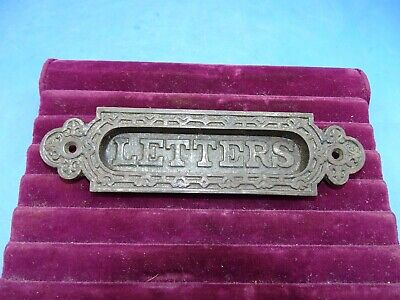 Ornate Antique EastLake Cast Iron Victorian Letter Mail Slot