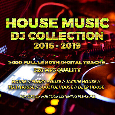 House Music Collection From 2016-2019 - 2000 Full Length DJ Tracks - USB STICK