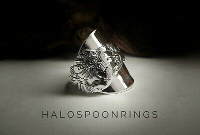 Marthinsen Sterling Silver Spoon Ring With Peacock Detail Only One Available!!