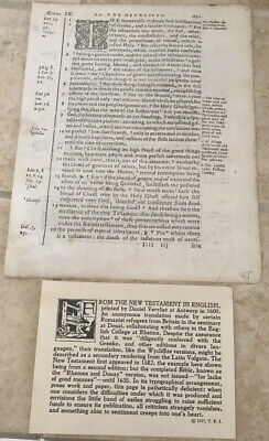 THE NEW TESTAMENT 16th CENTURY IN ENGLISH PRINTED DANIEL VERYLIET IN ANTWERP
