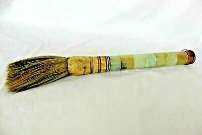 Unique Vintage Large Brown Calligraphy Brush Bone and Horse Hair Chinese