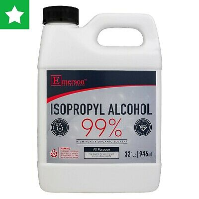 Isopropyl Rubbing Alcohol 99% All Purpose Cleaner/ Sanitizer - 32oz (Pack of 1)