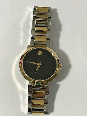 MOVADO Modern Classic Black Dial Two-tone Ladies Watch Item No. 0607102