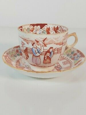 18th Century Teacup And Saucer