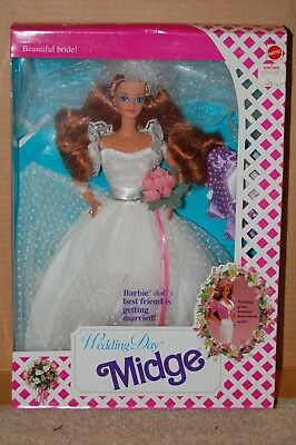 Wedding Day MIDGE - 1991 - barbie - Mattel #9606 - NRFB