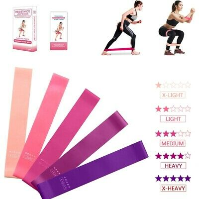 5PCS Resistance bands loop exercise fitness workout yoga band booty crossfit