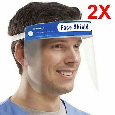 2X Full Face Covering Visor Mask Shield Protection Reusable Splash Guard Safety