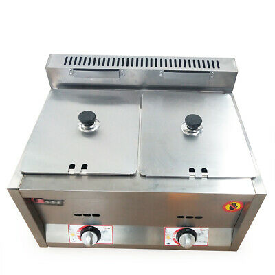 Commercial 2*6L Pan Gas Food Warmer Steamer Table Countertop Kitchen Restaurant