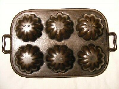 > Wagner Ware 6 cup Turk pan  solid frame  good condition no cracks , cast iron