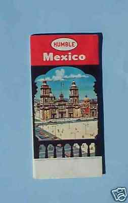 1959 Mexico road map Humble oil illustrated Cathedral Mexico City