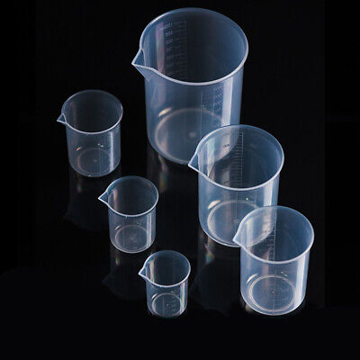 Plastic Measuring Cup for Laboratory Beaker Graduated cup Kitchen Baking NEW.