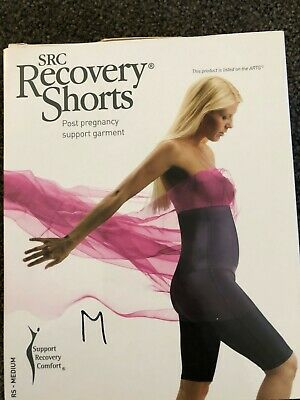 SRC Recovery Shorts Size M Compression Wear Black Maternity Ab Separation