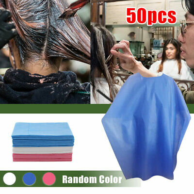 50PC Disposable Hair cutting Cape Salon Gown Hair Cut Cutting Salon Stylist Cape