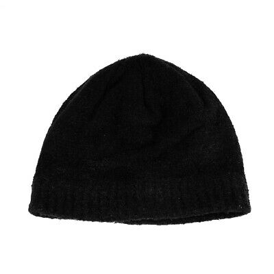 Christmas Central Women's Black Aloe Vera Plush Winter Beanie Hat - One Size