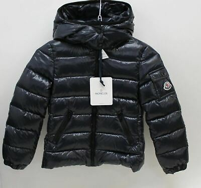 MONCLER Girls Navy Blue Zip Close Hooded Quilted Jacket 6 Yrs. 116cm BNWT