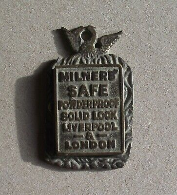 Antique Milners Safe Lock Key Hole Plate /  Eschutcheon London & Liverpool