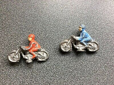 vintage antique lead motorcycle board game Figures