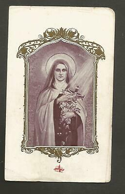 Andachtsbild mit Reliquie ** Therese von Lisieux ** Relic Holy Card