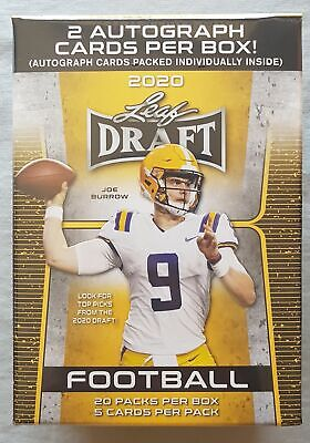 Leaf Draft Football nfl Blaster Box 2020 2 Autographs Per Box