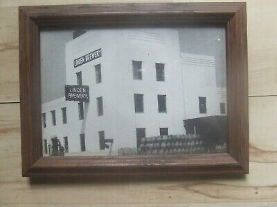 Rare B/W picture exterior of the LINDEN BREWERY. Lindenhurst, L.I NY. c1940