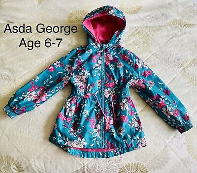 Girls Age 6-7 Rain Coat. Asda George.