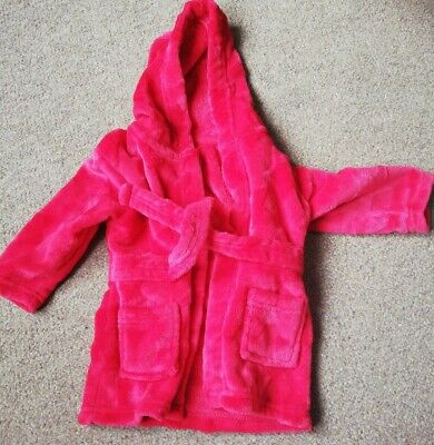 Baby Boys 6-9 Months Red Dressing Gown