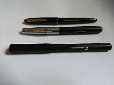 "3 Vintage Fountain Pens, one Platignum Deluxe, one ""Empire Made"" and one other"