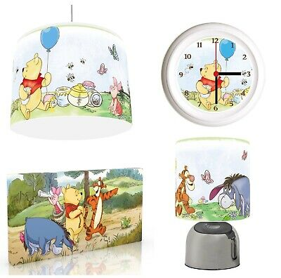 BRIGHT WINNIE THE POOH Light Shade ,Touch  Lamp, Wall Art, Wall Clock or Bundle