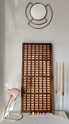 Vintage Wooden Printers Letterpress Tray In Good Condition With Cast Iron Handle