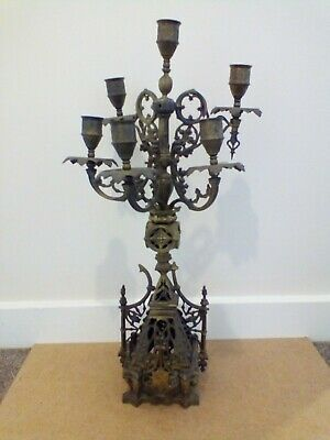 Gothic Rococo solid Brass candleabra VERY heavy 52cms tall