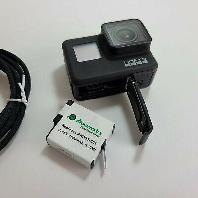 GoPro HERO7 Black 12 MP Bundle 4K Camera Camcorder *NICE** VERY GOOD CONDITION