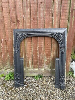 Original Antique Carron Company Cast Iron Fireplace (Date 1840 Reg no. 459)