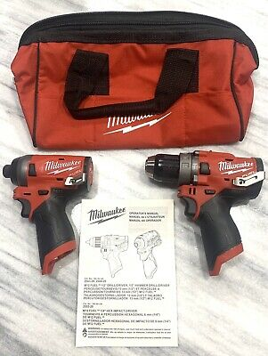 Brandnew Milwaukee 2504-20 12v M12 1/2 FUEL Hammer Drill & 2553-20 1/4 Impact