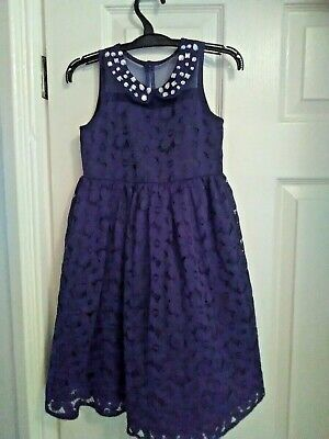 Girls Next Party Dress in navy Aged 4 Years Worn Twice