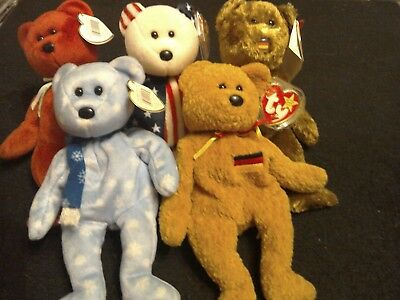 Collection Of 5 Beanie Babies --- Bears 2