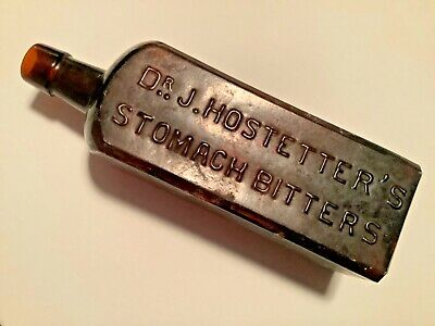 140 to 150 year old Dr. J. HOSTETTER'S STOMACH BITTERS ICCo. mouth-blown BOTTLE