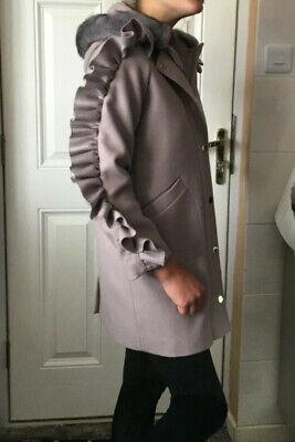 River Island Girls Hooded Coat Size 12 Years - Excellent Condition