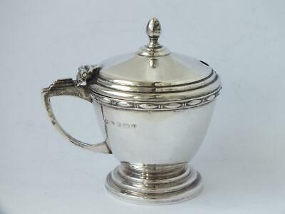 Smart Antique Solid Sterling Silver Mustard Pot 1920/ L 7 cm