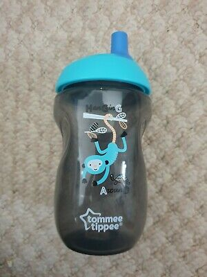 New (NWOT) Tommee Tippee Blue & Grey Coloured Sippy Cup - Excellent Condition
