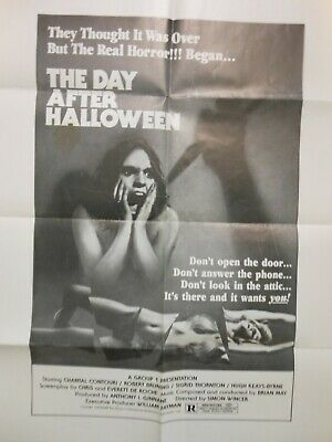Day After Halloween Original 23X29 Movie Poster Horror 1980 Cool Image !
