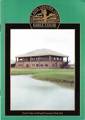 Earls Colne Golf & Country Club Ltd - Brochure With Prices 1991