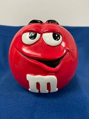 M&Ms Collectible Red Ceramic Cookie Jar By Galerie 2001