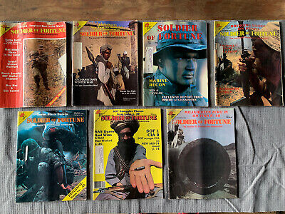 SOLDIER OF FORTUNE MAGAZINE- Lot Of 7- See Description!