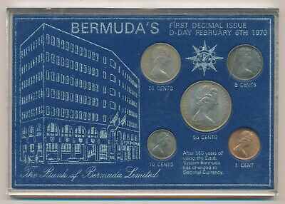 Bermuda's First Decimal Coin Issue 1970