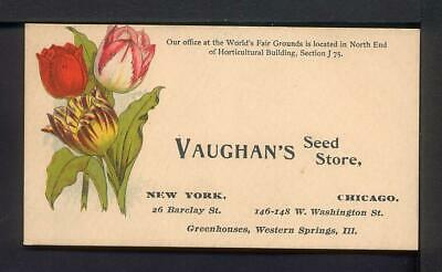 Chicago 1893 Columbian Exposition VAUGHAN'S SEED STORE Advertising Card