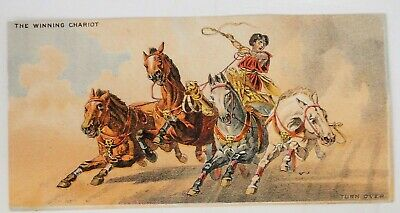 antique victorian TRADE CARD~WANAMAKER & BROWN clothiers PHILA PA roman chariot