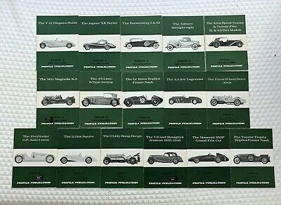 16 Issues Of Profile Publications  Lot Of Vintage Sports And Racing Cars
